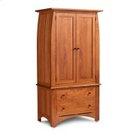 Aspen Tall Armoire on Chest with Inlay Product Image