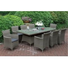 223 / Liz.p19- 7PC OUTDOOR PATIO TABLE SET [P50272(1)+P50132(8)]
