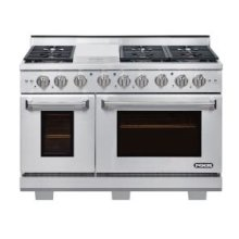 """NXR 48"""" Professional Range with Six Burners, Griddle, Convection Oven, Propane Gas (AK4807LP - Culinary Series)"""