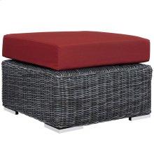 Summon Outdoor Patio Sunbrella® Ottoman in Canvas Red