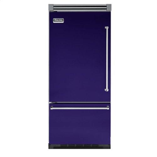 """Cobalt Blue 36"""" Quiet Cool™ Bottom-Mount Refrigerator/Freezer - VIBB Tru-Flush™ (Left Hinge Door)"""