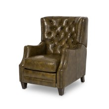 Rycote Leather Reclining Chair in Dark_Olive Espresso