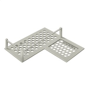 "Bathroom Basket HD Corner Right 9"" - Brushed Nickel Product Image"