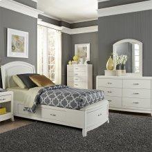 Full One Sided Storage Bed, Dresser & Mirror