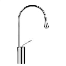 "Tall single lever washbasin mixer without pop-up assembly Spout projection 7"" Height 15-1/4"" Drain not included - See DRAINS section Max flow rate 1"