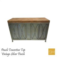 * Travertine Buffet Cabinet 1239 B Product Image