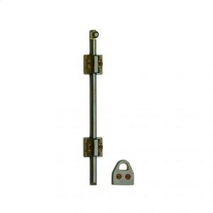 "Mini Surface Bolt with Square Mounting Bracket and 3/8"" Bolt- MB3 Silicon Bronze Brushed Product Image"