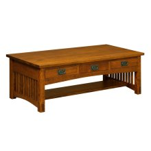 Bungalow 3 Drawer Coffee Table