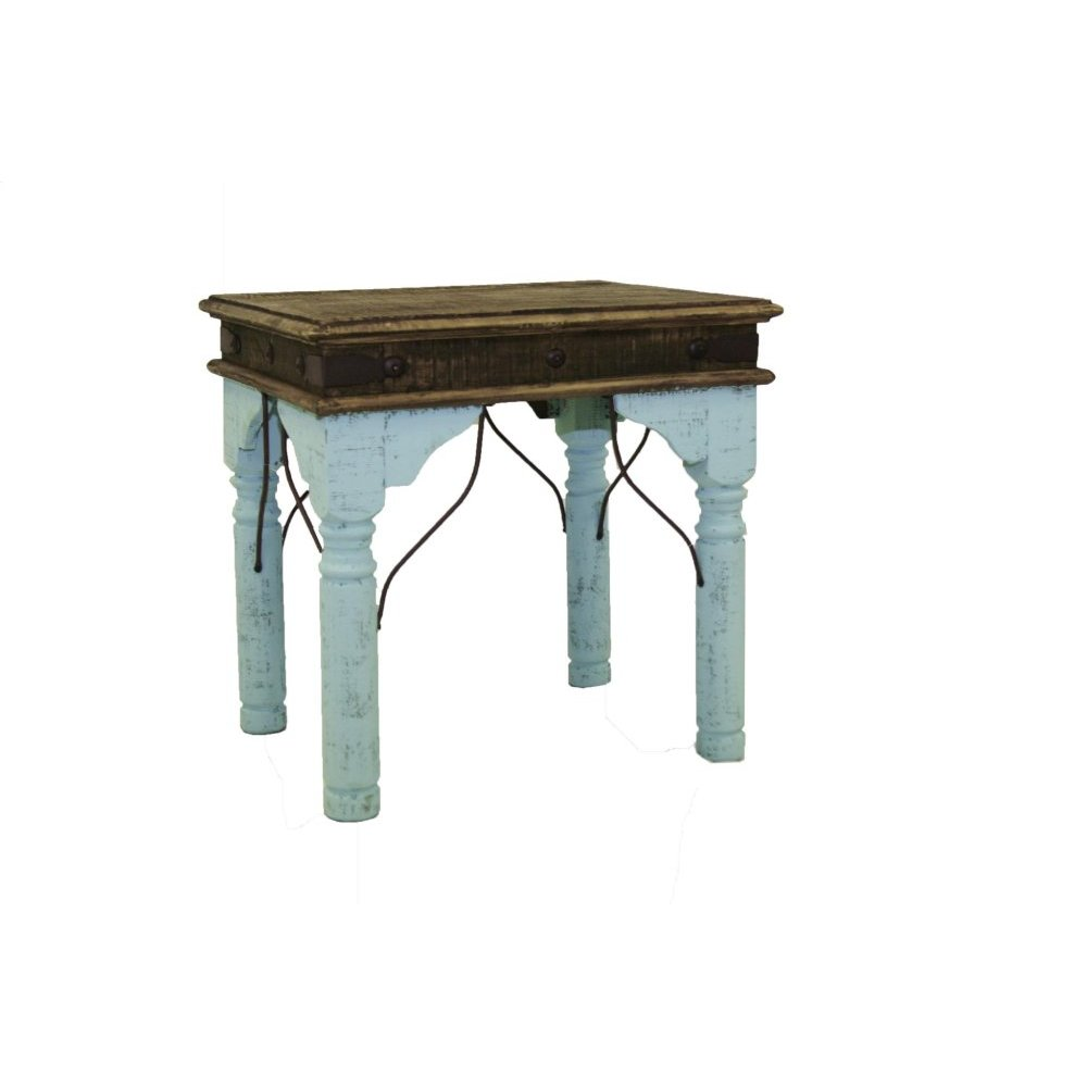 Turquoise Indian End Table