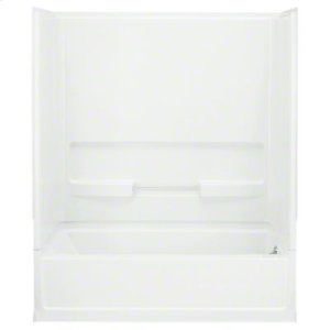 """Advantage™, Series 6103, 60"""" x 30"""" x 72"""" Bath/Shower with Age in Place Backers - Right-hand Drain - White Product Image"""