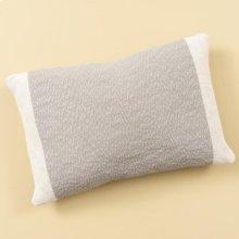 Grey Colorblocked Pillow