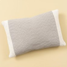 Grey Colorblocked Pillow