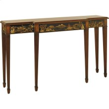 CONSOLE TABLE WITH CHINOISERIE