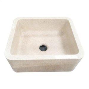 "Chandra Single Bowl Marble Farmer Sink - 30"" Product Image"