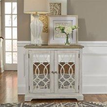 2 Door Mirrored Accent Cabinet