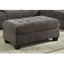 Storage Cocktail Ottoman-gray