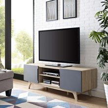 """Tread 59"""" TV Stand in Natural Gray"""
