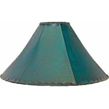 """24"""" shade Teal Leather Lamp Shades 20"""" and 24"""""""