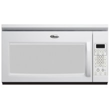 White-on-White 1.7 cu. ft. Family Capacity™ Microwave-Range Hood Combination with Sensor Cooking
