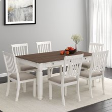 Highlands 7pc Dining Set in White