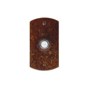 Curved Doorbell Button Silicon Bronze Brushed Product Image
