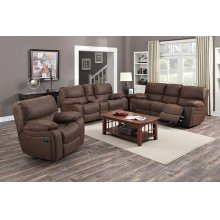Ramsey Rodeo Brown Leather-Look Reclining Set, M6016