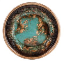 """Textured Turquoise 19"""" Plate"""