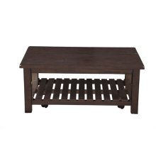 Barn Door Collection Coffee Table, Espresso