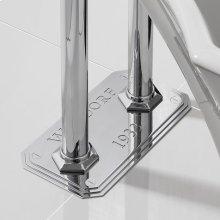 Waldorf Plate for Floor-mount Pillar Legs - Polished Chrome