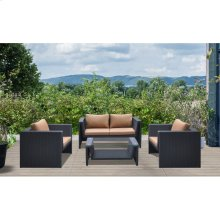 Oahu 4 Piece Outdoor Wicker Patio Set