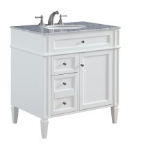 32 in. Single Bathroom Vanity set in White