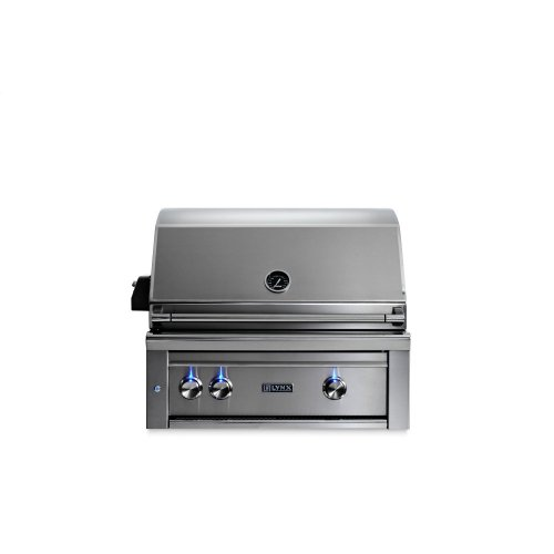"""30"""" Lynx Professional Built In Grill with 2 Ceramic Burners and Rotisserie, NG"""