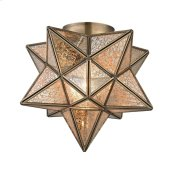 Moravian Star 1-Light Flush Mount in Gold
