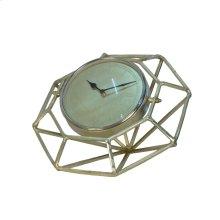 "Adjustable Gold Metal Clock 14.5"""