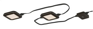 Low Profile Instalux® LED Under Cabinet Puck Light 3-pack Kit Bronze Product Image