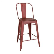 Bow Back Counter Chair - Red (RTA)