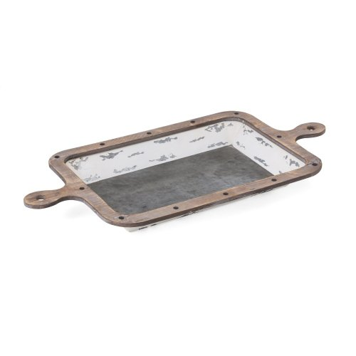 Kolton Wood and Metal Decorative Trays - Set of 2