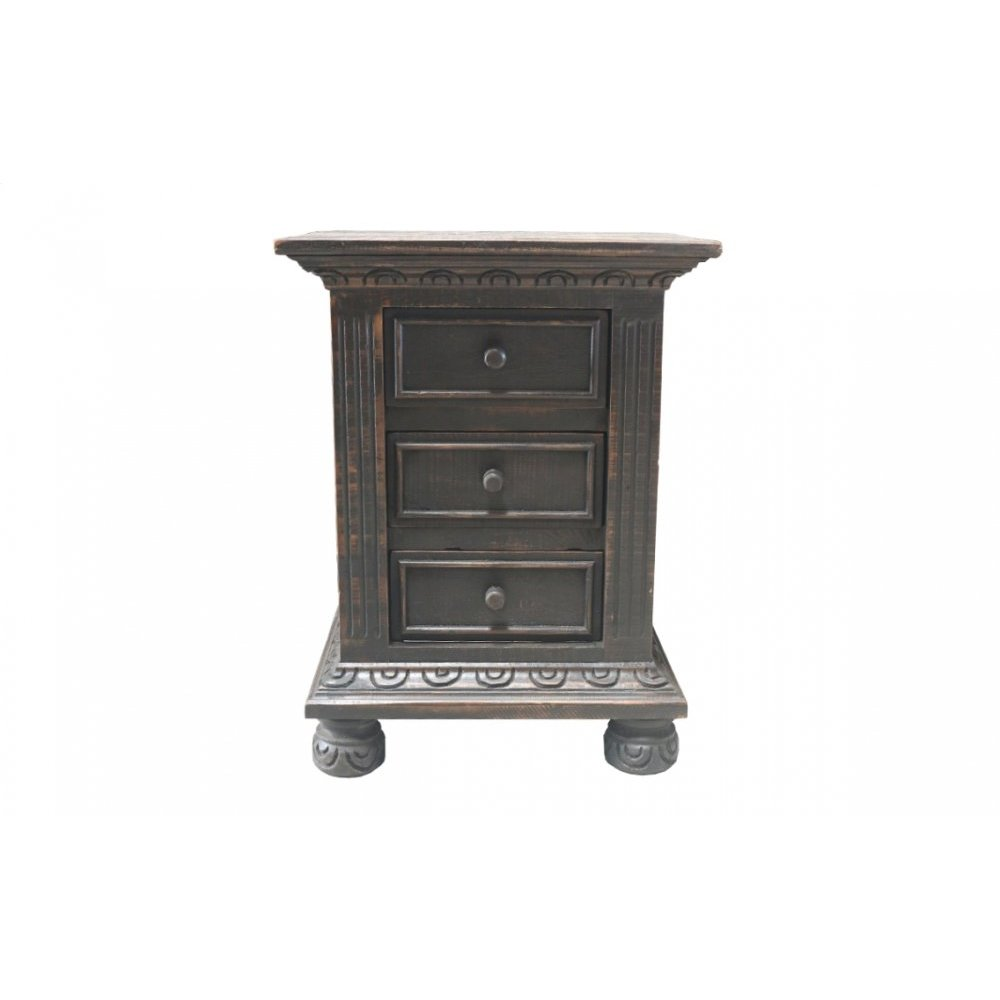 Factory 4 3-Drawer Nightstand