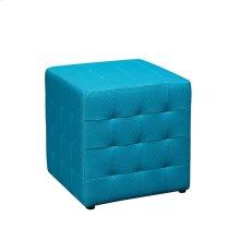 """Detour 15"""" Blue Fabric Cube"""