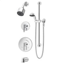 Symmons Dia® Tub/Shower/Hand Shower System - Polished Chrome