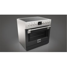 "36"" INDUCTION PRO RANGE - GLOSSY BLACK"