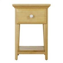 1 Drawer Night Stand w/ Shelf - Two Tone