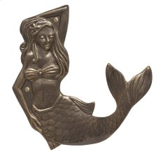Mermaid Towel Hook (right) - French Bronze