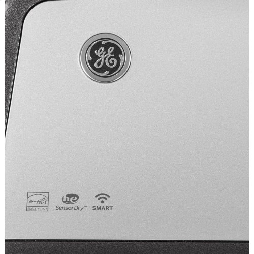 GE® 7.4 cu. ft. Capacity Smart aluminized alloy drum Gas Dryer with HE Sensor Dry