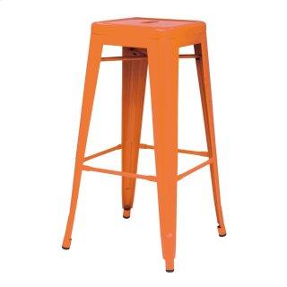 Metropolis Metal Backless Counter Stool, Orange