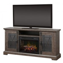 Natalie Media Console Electric Fireplace