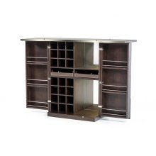 Modrest Fountain Modern Brown Oak Wine Cabinet