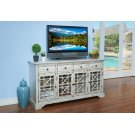 GILBERT 4 DRAWER 4 DOOR ACCENT-ANT WHITE Product Image