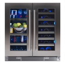 "30"" French Door Beverage Centers Wine Refrigerators"