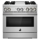 """RISE 36"""" Dual-Fuel Professional Range with Chrome-Infused Griddle Product Image"""